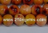 CMJ649 15.5 inches 12mm round rainbow jade beads wholesale