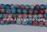 CMJ659 15.5 inches 4mm round rainbow jade beads wholesale