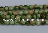 CMJ673 15.5 inches 4mm round rainbow jade beads wholesale