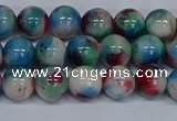 CMJ731 15.5 inches 8mm round rainbow jade beads wholesale
