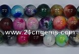 CMJ752 15.5 inches 8mm round rainbow jade beads wholesale