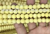 CMJ807 15.5 inches 8mm round matte Mashan jade beads wholesale
