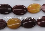 CMK141 15.5 inches 13*18mm oval mookaite beads wholesale