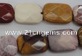 CMK152 15.5 inches 15*20mm faceted rectangle mookaite beads wholesale