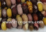 CMK21 15.5 inches 8*14mm faceted rondelle mookaite beads wholesale