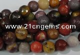 CMK212 15.5 inches 8mm faceted round mookaite gemstone beads