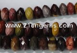 CMK225 15.5 inches 6*10mm faceted rondelle mookaite gemstone beads