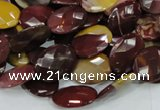 CMK25 15.5 inches 15*20mm faceted oval mookaite beads wholesale