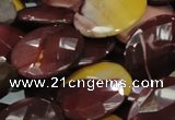 CMK28 15.5 inches 30*40mm faceted oval mookaite beads wholesale