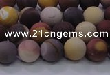 CMK292 15.5 inches 8mm round matte mookaite beads wholesale