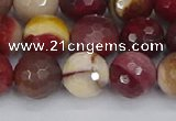 CMK320 15.5 inches 12mm faceted round mookaite gemstone beads