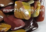 CMK43 15.5 inches 30*30mm faceted square mookaite beads wholesale