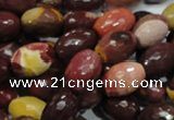 CMK45 15.5 inches 10*15mm faceted rice mookaite beads wholesale