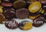CMK74 15.5 inches 10*15mm oval mookaite gemstone beads wholesale