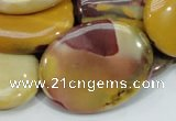 CMK76 15.5 inches 30*40mm oval mookaite gemstone beads wholesale