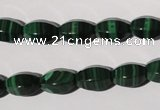 CMN225 15.5 inches 8*12mm faceted rice natural malachite beads