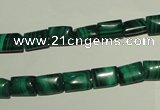 CMN310 15.5 inches 6*8mm rectangle natural malachite beads wholesale