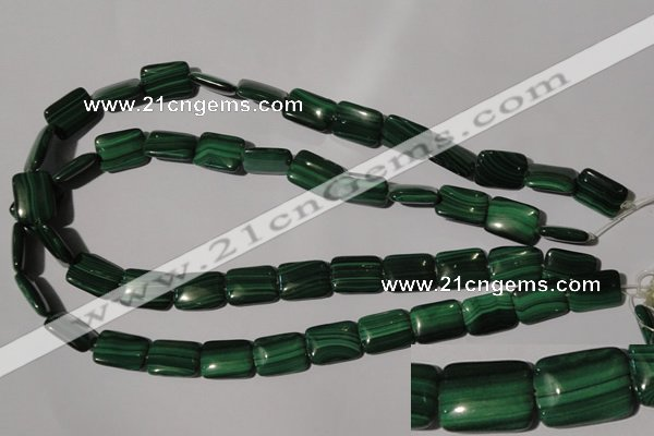 CMN315 15.5 inches 12*16mm rectangle natural malachite beads wholesale