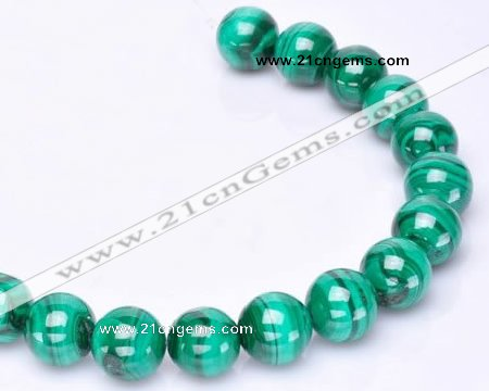 CMN39 AB grade 8mm round natural malachite beads Wholesale