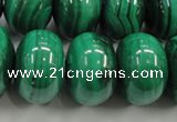 CMN403 15.5 inches 8*12mm rondelle natural malachite beads wholesale