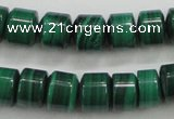CMN408 15.5 inches 5*6mm tyre natural malachite beads wholesale