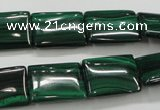 CMN445 15.5 inches 13*18mm rectangle natural malachite beads