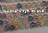 CMQ211 15.5 inches 6mm round multicolor quartz gemstone beads