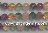 CMQ212 15.5 inches 8mm round multicolor quartz gemstone beads