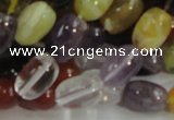 CMQ29 15.5 inches 10*14mm rice multicolor quartz beads wholesale