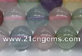 CMQ571 15.5 inches 8mm round mixed quartz beads wholesale