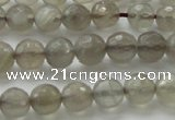 CMS1061 15.5 inches 8mm faceted round grey moonstone beads wholesale