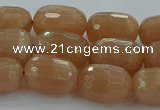 CMS1099 15.5 inches 10*14mm faceted rice moonstone gemstone beads