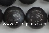 CMS150 15.5 inches 16mm round natural grey moonstone beads
