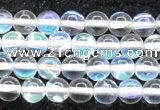 CMS1501 15.5 inches 6mm round synthetic moonstone beads wholesale