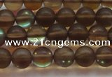 CMS1527 15.5 inches 8mm round matte synthetic moonstone beads