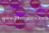 CMS1548 15.5 inches 10mm round matte synthetic moonstone beads