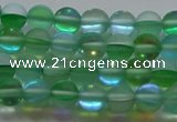 CMS1606 15.5 inches 6mm round matte synthetic moonstone beads