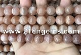 CMS1674 15.5 inches 12mm round moonstone beads wholesale