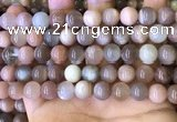 CMS1687 15.5 inches 10mm round rainbow moonstone beads wholesale