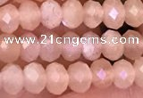 CMS1865 15.5 inches 3*4mm faceted rondelle moonstone beads wholesale