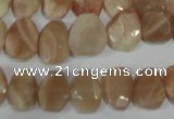 CMS561 15.5 inches 8*12mm faceted freefrom moonstone beads wholesale