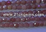 CMS569 15.5 inches 4mm faceted round moonstone gemstone beads