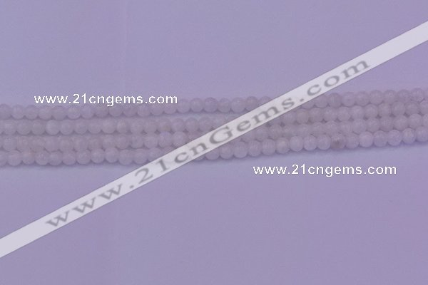 CMS640 15.5 inches 4mm round white moonstone beads wholesale