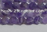 CNA1076 15.5 inches 6mm faceted nuggets matte dogtooth amethyst beads