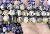 CNA1093 15.5 inches 18mm faceted round dogtooth amethyst beads