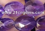 CNA1106 15.5 inches 10*12mm faceted oval amethyst gemstone beads
