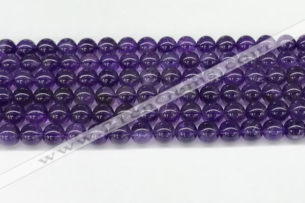 CNA1151 15.5 inches 6mm round natural amethyst gemstone beads