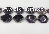 CNA1198 15.5 inches 30*40mm freeform amethyst beads wholesale
