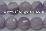 CNA313 15.5 inches 14mm faceted round natural lavender amethyst beads