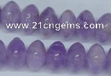 CNA409 15.5 inches 10*16mm rondelle natural lavender amethyst beads